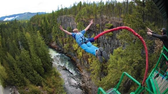 Top 5 saltos bungees más altos del mundo