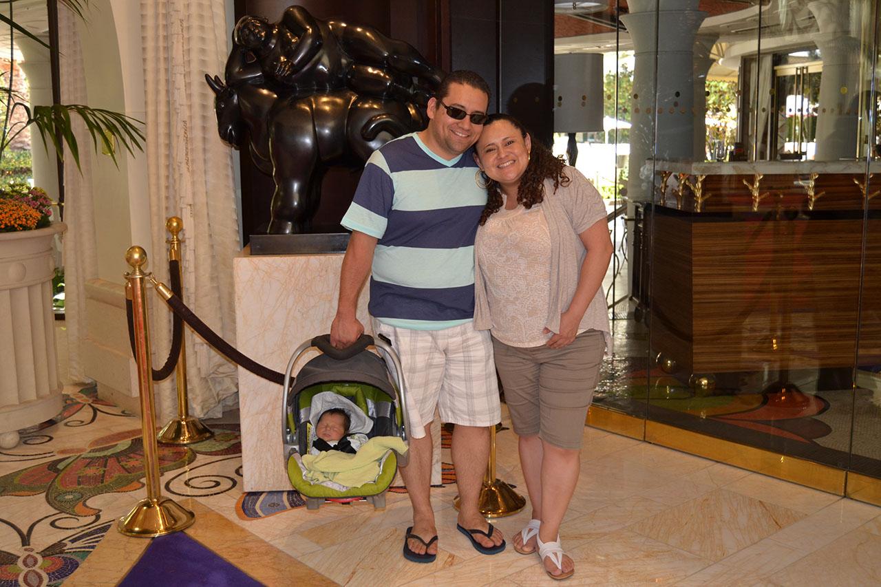 Mi sobrino y yo por las Vegas